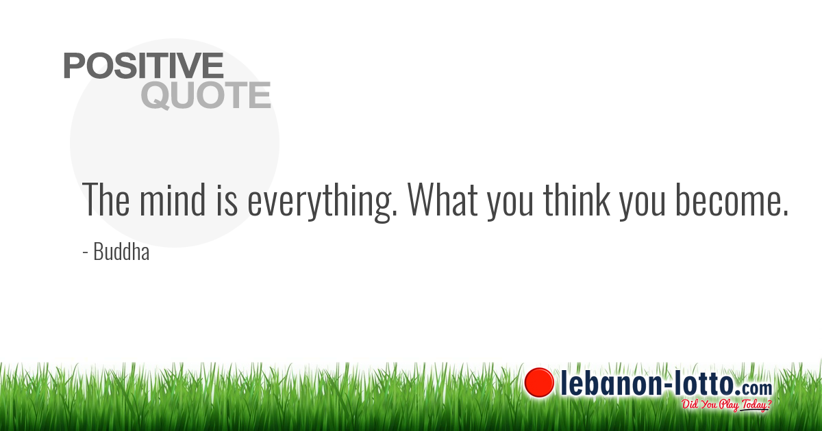 POSITIVE QUOTES: The Mind Is Everything. What You Think